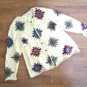 CJ Banks Aztec Button Down Cardigan Sweater 2XL